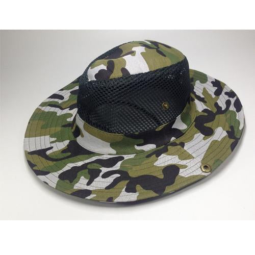 Mesh Bucket Hat For Men Camo Fishing Hat Boonie Hunting Wide Brim Cap Fishman Uv-Hats-Bargain Bait Box-C4 Camo hat bucket-Bargain Bait Box