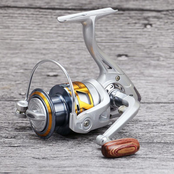 Metal Cup Line, All-Metal Folding Arm 13+1 Axis Metal Rocker Arm Reel-Spinning Reels-Sports fishing products-2000 Series-Bargain Bait Box