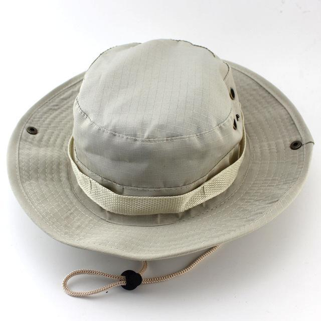 Military Bucket Hats Fishing Hunting Men T Safari Protection Hunter Cap With-Hats-Bargain Bait Box-Beige-Bargain Bait Box