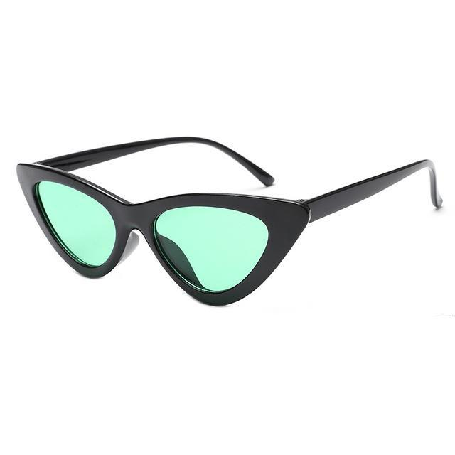 Mineway Brand Designer Sunglasses Women Vintage Cat Eye Sexy Small Frame-Sunglasses-MINEWAY Store-Black frame green-Bargain Bait Box