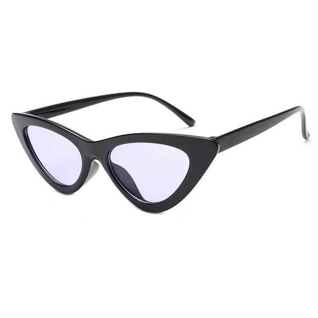 Mineway Brand Designer Sunglasses Women Vintage Cat Eye Sexy Small Frame-Sunglasses-MINEWAY Store-Black frame purple-Bargain Bait Box