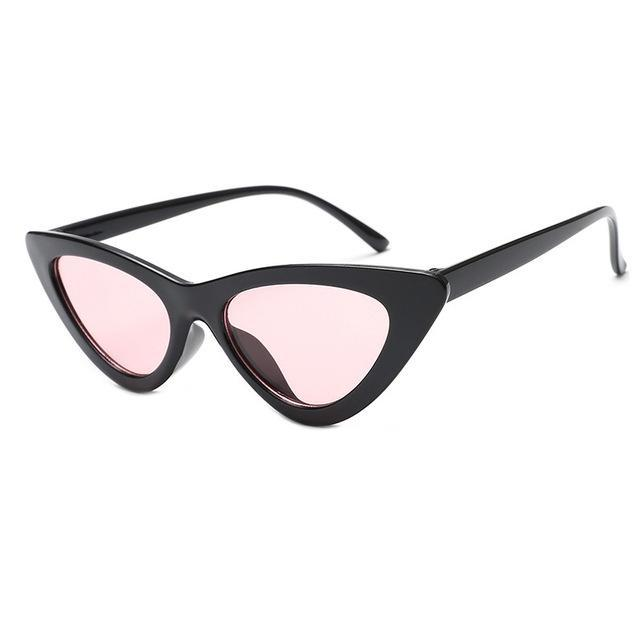 Mineway Brand Designer Sunglasses Women Vintage Cat Eye Sexy Small Frame-Sunglasses-MINEWAY Store-Black frame red-Bargain Bait Box