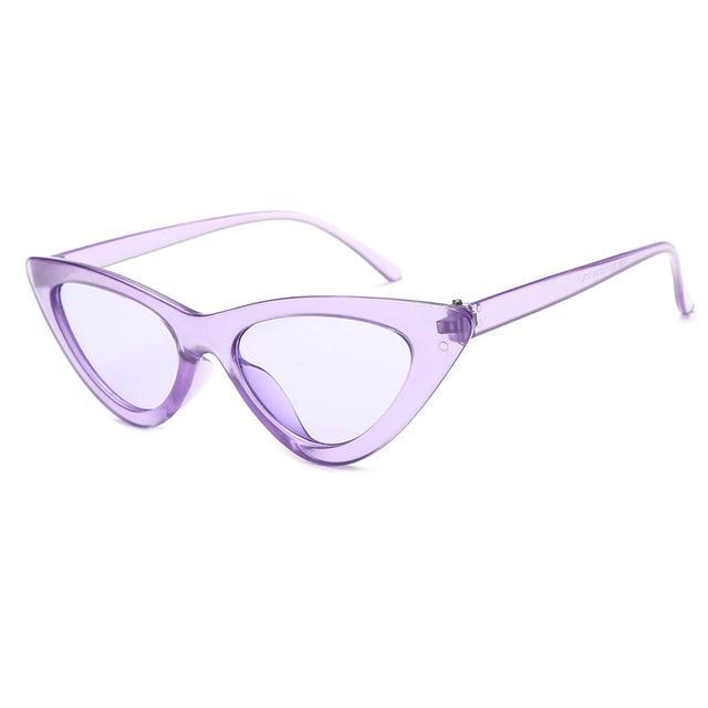 Mineway Brand Designer Sunglasses Women Vintage Cat Eye Sexy Small Frame-Sunglasses-MINEWAY Store-Purple frame purple-Bargain Bait Box