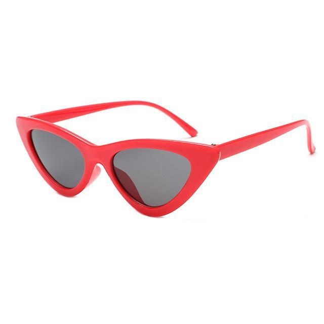 Mineway Brand Designer Sunglasses Women Vintage Cat Eye Sexy Small Frame-Sunglasses-MINEWAY Store-Red frame gray-Bargain Bait Box
