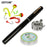 Mini Pocket Fishing Reel And Rod Combos Aluminum Alloy Portable Telescopic Pen-Ice Fishing Rod & Reel Combos-Bargain Bait Box-White-Bargain Bait Box