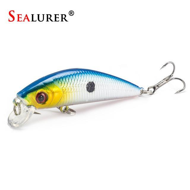 Minnow Crankbait Hard Bait Tight Wobble Slow Sinking Jerkbait 7Cm 8.5G High-SEALURER No.2 Store-B-Bargain Bait Box