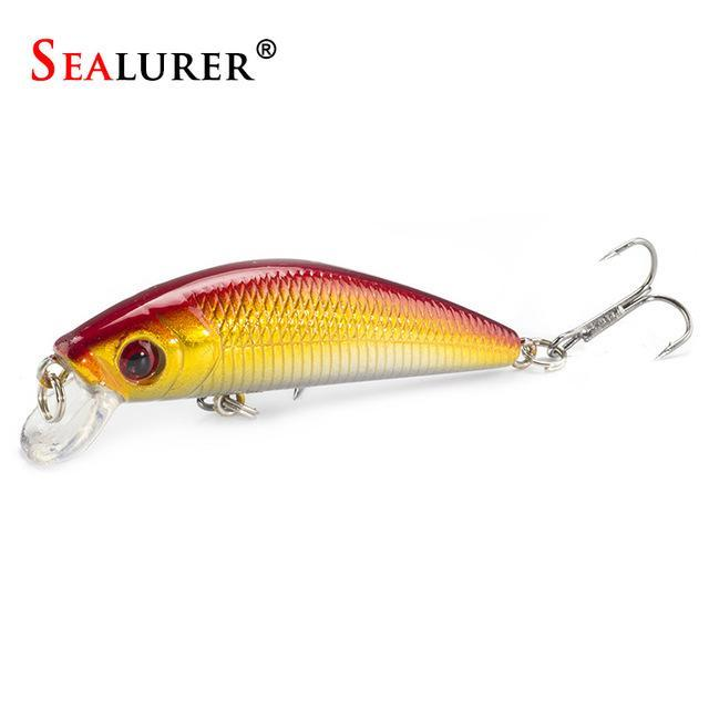 Minnow Crankbait Hard Bait Tight Wobble Slow Sinking Jerkbait 7Cm 8.5G High-SEALURER No.2 Store-D-Bargain Bait Box