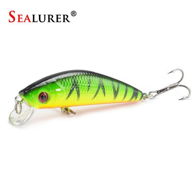 Minnow Crankbait Hard Bait Tight Wobble Slow Sinking Jerkbait 7Cm 8.5G High-SEALURER No.2 Store-F-Bargain Bait Box