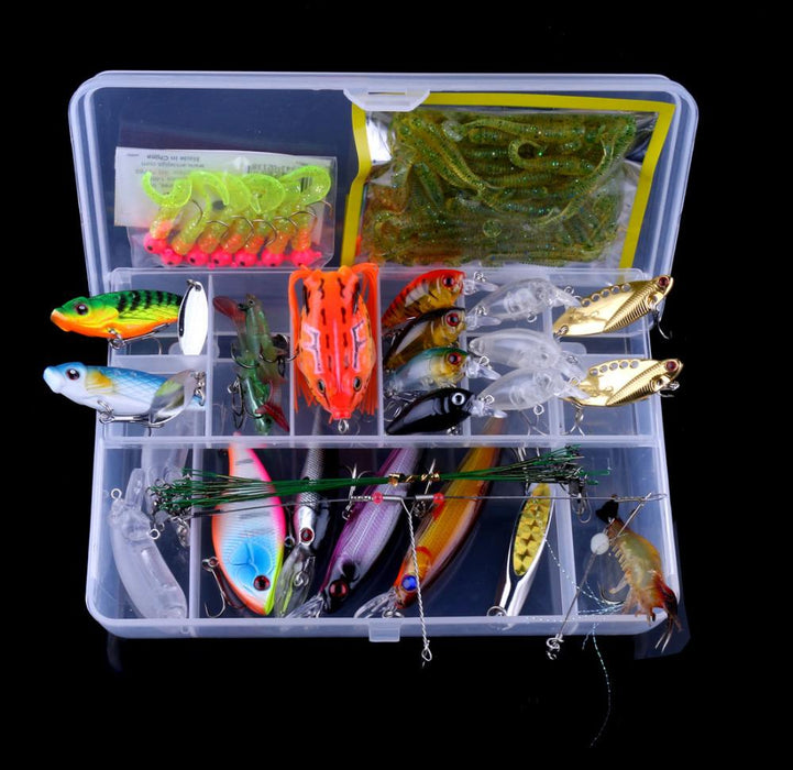 Minnow/ Spinner Spoon Metal Vib Lure Hooks Bait Kit Set Set015-Mixed Combos & Kits-Bargain Bait Box-Bargain Bait Box
