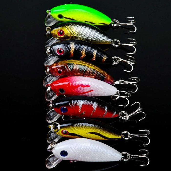 Mixed 6/Set Minnow Fishing Lures Artificial Lifelike Carp Fishing Tishing Tackle-Lingyue Fishing Tackle Co.,Ltd-Bargain Bait Box