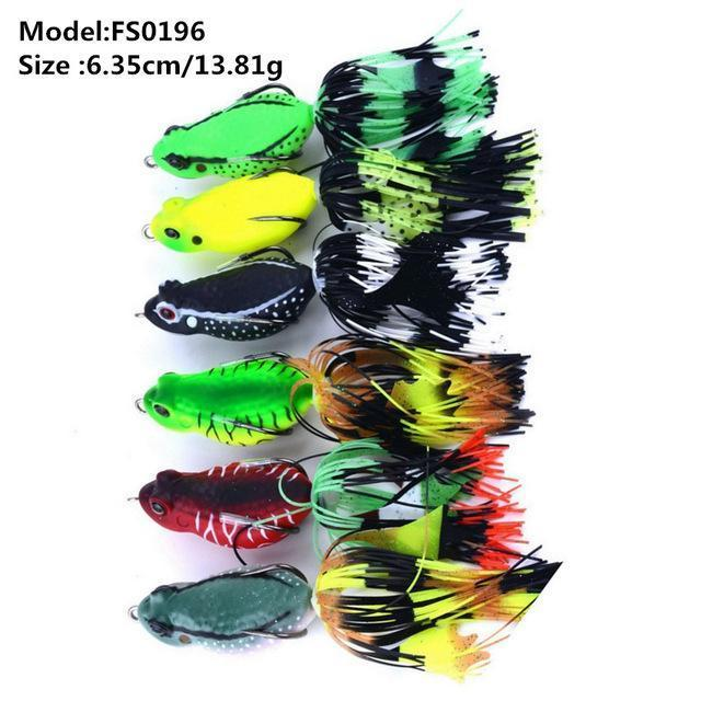 Mixed Set 5.8G-13.81G Classic Frog/Mouse Soft Fishing Lure Crank Bait Bass-Xiamen Smith Industry Co,. Ltd-6pcs FS0196-Bargain Bait Box
