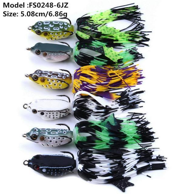 Mixed Set 5.8G-13.81G Classic Frog/Mouse Soft Fishing Lure Crank Bait Bass-Xiamen Smith Industry Co,. Ltd-6pcs FS0248-Bargain Bait Box