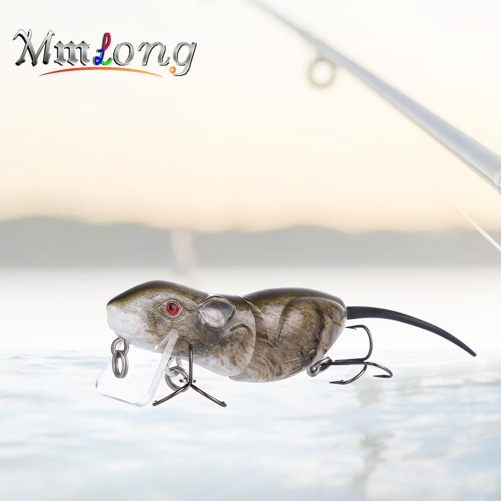 Mmlong 6.3Cm Plastic Rat Fishing Lure Crank Bait Rat4-M 10.3G 2 Segments Swim-Aplus Fishing Tackle Store-A-Bargain Bait Box