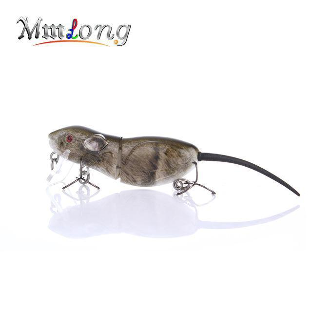 Mmlong 6.3Cm Plastic Rat Fishing Lure Crank Bait Rat4-M 10.3G 2 Segments Swim-Aplus Fishing Tackle Store-C-Bargain Bait Box