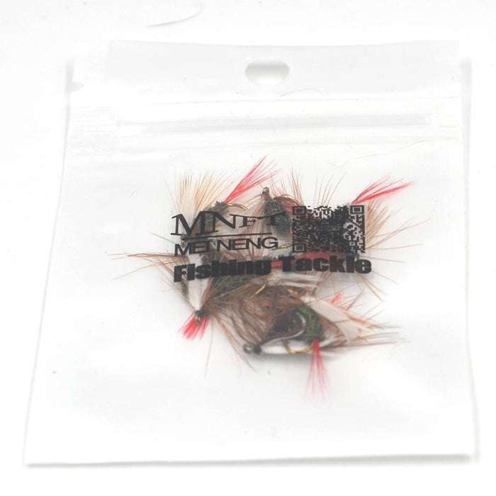 Mnft 10Pcs 10# Red Tail May Fly Nymph Pheasant Herl Winged May Fly Trout Perch-MNFT Fishing Tackle 12 Store-10Pcs In Bag-Bargain Bait Box