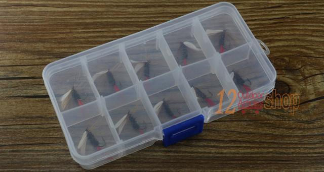 Mnft 10Pcs 10# Red Tail May Fly Nymph Pheasant Herl Winged May Fly Trout Perch-MNFT Fishing Tackle 12 Store-10Pcs In Box-Bargain Bait Box