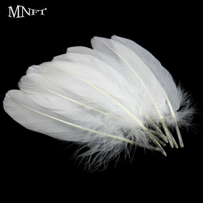 Mnft 10Pcs Natural Goose Feathers White13-20Cm / 5-8Inches Fly Tying Material-Fly Tying Materials-Bargain Bait Box-Bargain Bait Box