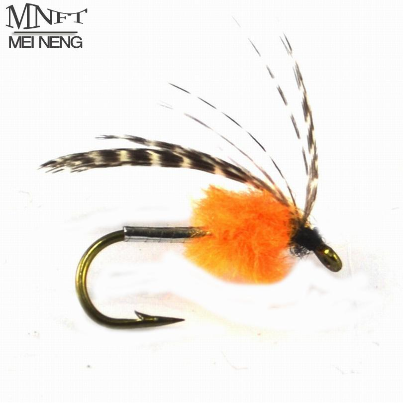 Mnft 10Pcs Orange Nymph Body Fly Mayfly Bug For Trout Fly Bait Lure Hooks 8#-Flies-Bargain Bait Box-10pcs in box-Bargain Bait Box