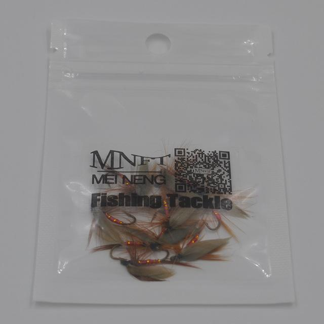 Mnft 10Pcs Peacock Wings May Fly Trout Fishing Flies 14# Barbed Hooks Fishing-MNFT Fishing Tackle 12 Store-10pcs in bag-Bargain Bait Box
