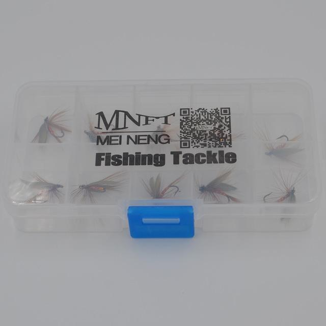 Mnft 10Pcs Peacock Wings May Fly Trout Fishing Flies 14# Barbed Hooks Fishing-MNFT Fishing Tackle 12 Store-10pcs in box-Bargain Bait Box