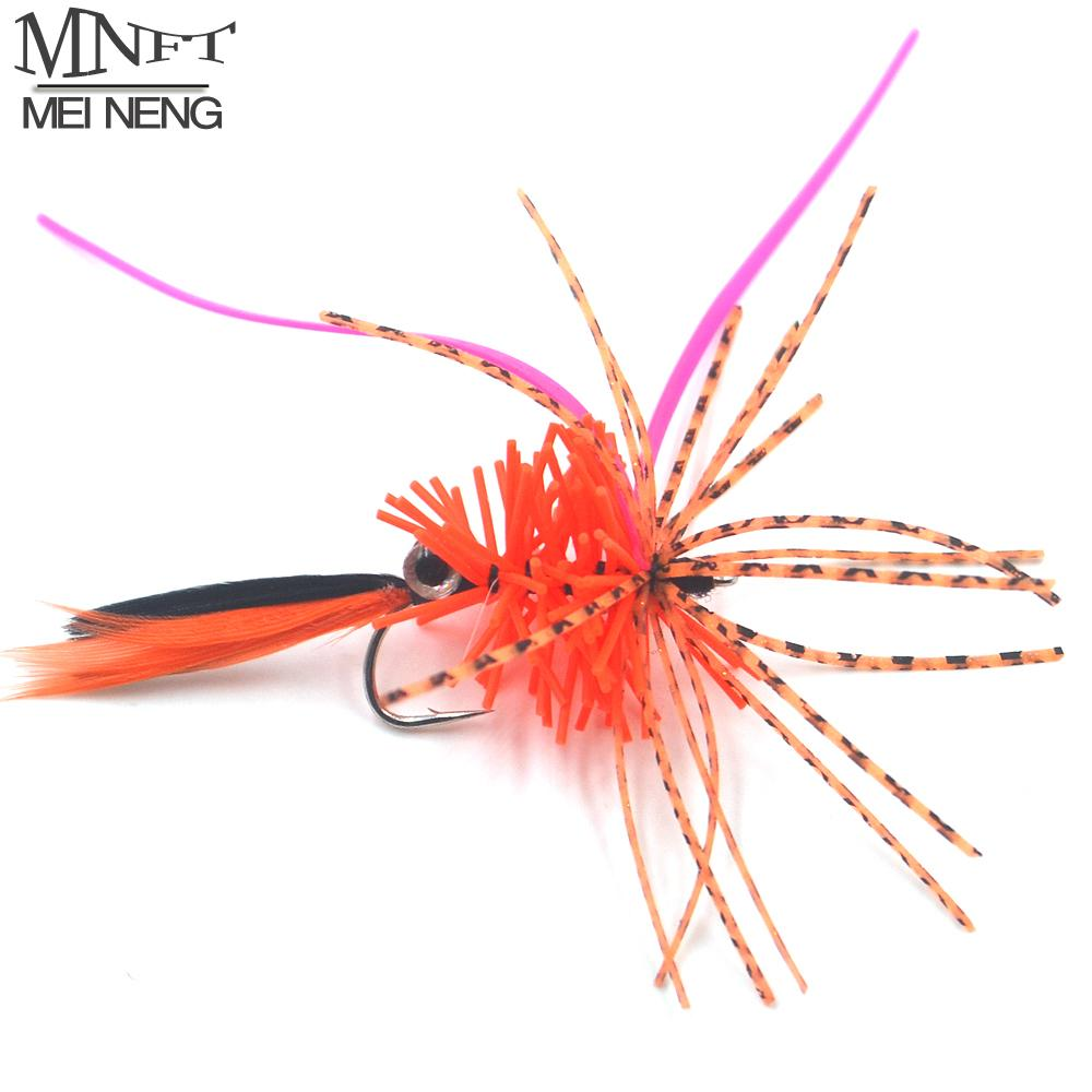 Mnft 1Pcs Silicone Skirt Legs Lobster Fly Fishing Flies Lures With 3D Eye-Flies-Bargain Bait Box-1Pcs F1001-Bargain Bait Box