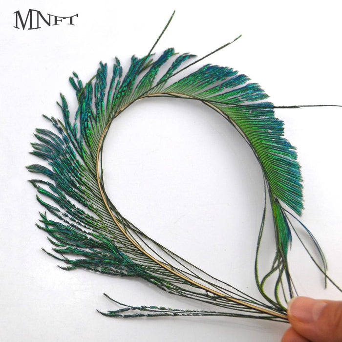 Mnft 20 Piece Peacock Swords Natural Feathers Diy Fly Tying Nymphs Materials-Fly Tying Materials-Bargain Bait Box-Bargain Bait Box