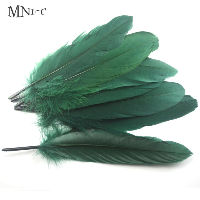 Mnft 200Pcs/Lot Fly Tying Materials Big Goose Green Feather Biot Fly Tying-Fly Tying Materials-Bargain Bait Box-Bargain Bait Box