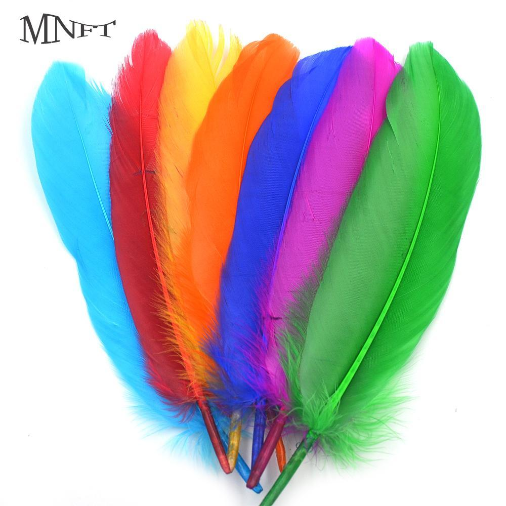 Mnft 40Pcs Beautiful Goose Feather 14-20Cm / 5-8Inch For Diy Fishing Fly Tying-Fly Tying Materials-Bargain Bait Box-Bargain Bait Box