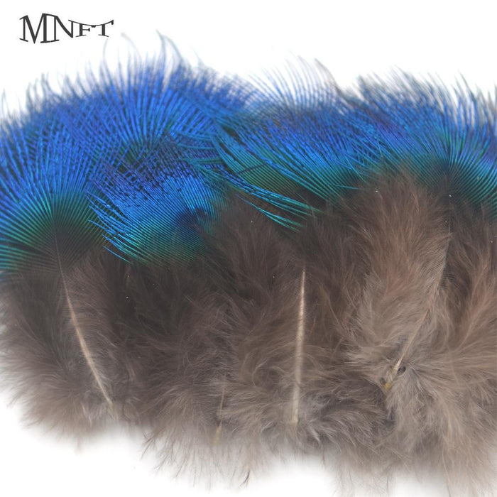 Mnft 50Pcs Metallic Blue Peacock Feathers Fly Tying Lure Bait Materials Size-Fly Tying Materials-Bargain Bait Box-Bargain Bait Box