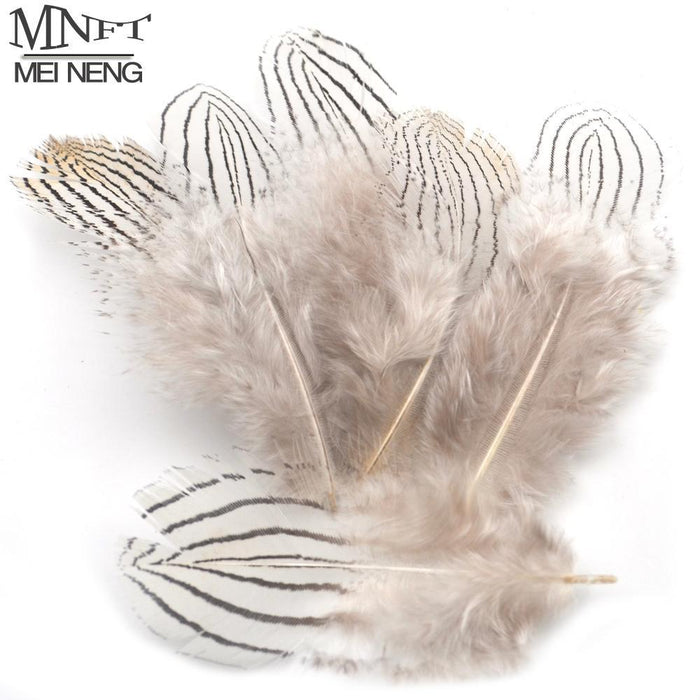 Mnft 50Pcs Natural Grizzly Feather Flies Wing Making Feather Pheasant Feathers-Fly Tying Materials-Bargain Bait Box-Bargain Bait Box