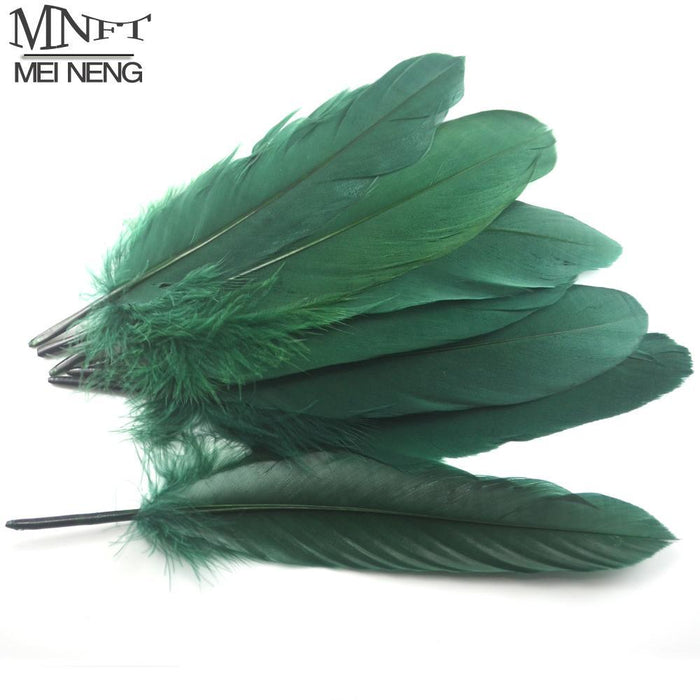 Mnft 50Pcs/Lot Factory Fishing Fly Diy Big Goose Green Feather Fly Fishing Tying-Fly Tying Materials-Bargain Bait Box-Bargain Bait Box