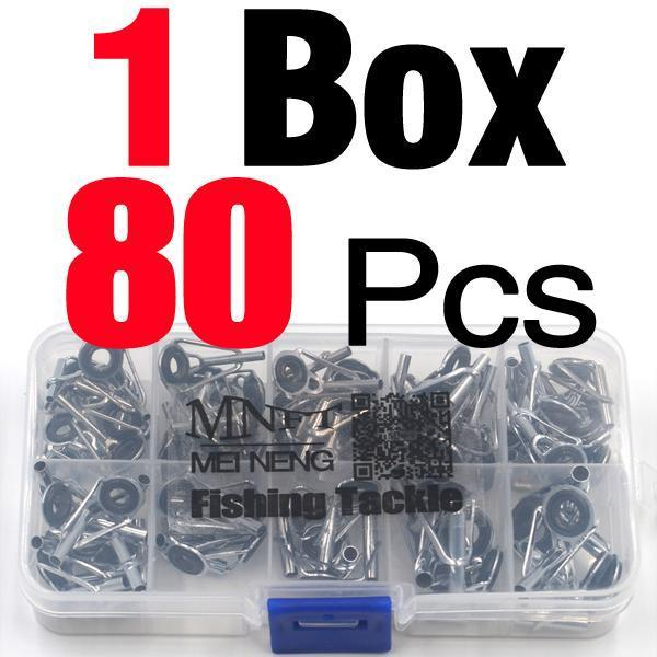 Mnft 80Pcs/Box Size1-10# Fishing Rod Guide Tip Repair Kit Set Diy Eye Rings-Fishing Rod Guides & Tips-Bargain Bait Box-Bargain Bait Box