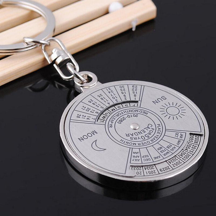 Mountaineering Camping Survival Edc 50 Years Perpetual Calendar Keyring Unique-Outdoor & equipment Store-Bargain Bait Box