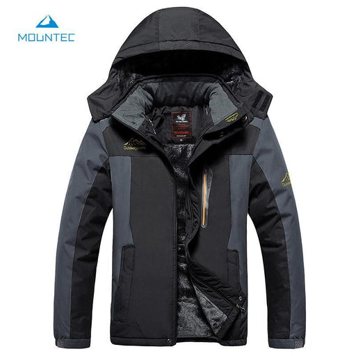 Mountec Winter Waterproof Hiking Jacket Softshell Men Windbreaker Jacket Plus-TaoDream Outdoor Store-Black-XL-Bargain Bait Box