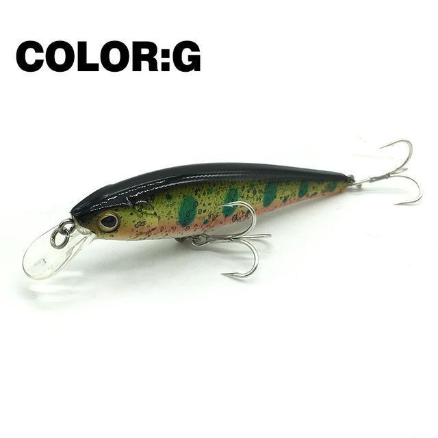 Mr.Charles Cmc019 Fishing Lure 80Mm/9G 0-1M Floating Super Sinking Minnow Hard-MrCharles-COLOR G-Bargain Bait Box