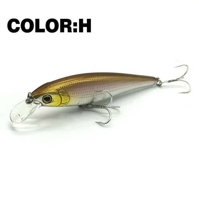 Mr.Charles Cmc019 Fishing Lure 80Mm/9G 0-1M Floating Super Sinking Minnow Hard-MrCharles-COLOR H-Bargain Bait Box