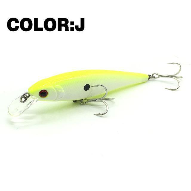 Mr.Charles Cmc019 Fishing Lure 80Mm/9G 0-1M Floating Super Sinking Minnow Hard-MrCharles-COLOR J-Bargain Bait Box