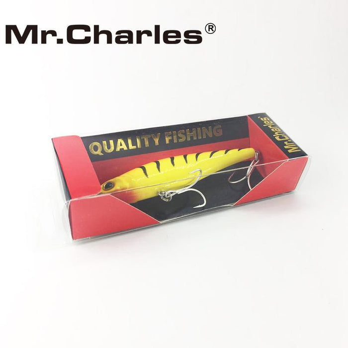 Mr.Charles Cmc021 Fishing Lure 95Mm/13.5G 0-1.0M Floating Super Sinking Minnow-MrCharles-COLOR A-Bargain Bait Box
