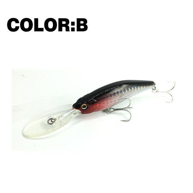 Mr.Charles Cmc032 Fishing Lure 75Mm/11.5G 0-2.0M Floating Shad Minnow Hard Baits-MrCharles-COLOR B-Bargain Bait Box