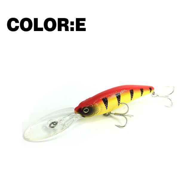 Mr.Charles Cmc032 Fishing Lure 75Mm/11.5G 0-2.0M Floating Shad Minnow Hard Baits-MrCharles-COLOR E-Bargain Bait Box