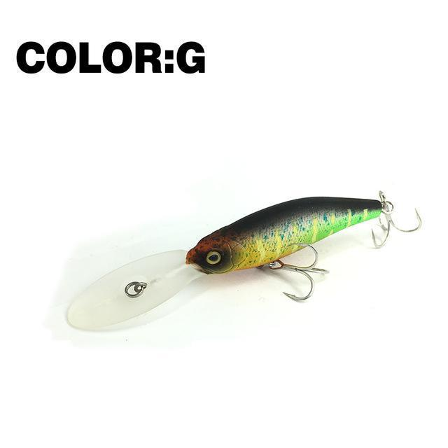Mr.Charles Cmc032 Fishing Lure 75Mm/11.5G 0-2.0M Floating Shad Minnow Hard Baits-MrCharles-COLOR G-Bargain Bait Box