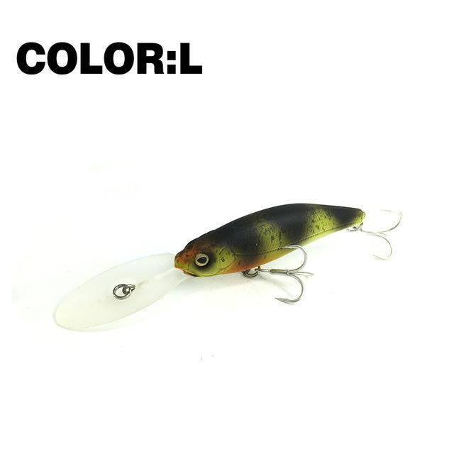 Mr.Charles Cmc032 Fishing Lure 75Mm/11.5G 0-2.0M Floating Shad Minnow Hard Baits-MrCharles-COLOR L-Bargain Bait Box