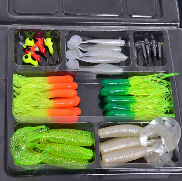 Multi Fishing S Metal Spoon Bait Soft Kit Popper Frog Fish Hooks S-Mixed Combos & Kits-Bargain Bait Box-45Pcs Lure Set-Bargain Bait Box