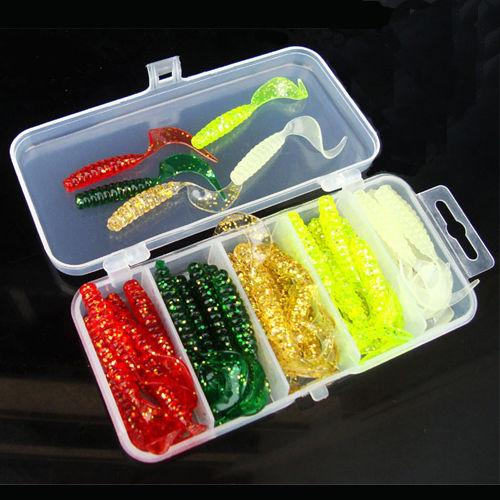 Multi Fishing S Metal Spoon Bait Soft Kit Popper Frog Fish Hooks S-Mixed Combos & Kits-Bargain Bait Box-50Pcs Lure Set-Bargain Bait Box