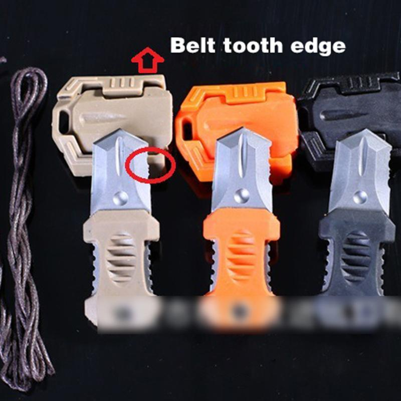 Multi Functional Stainless Steel Mini Portable Edc Knife Tool Webbing Buckle-Yiwu Cinstones Import & Export Co., Ltd.-orange-Bargain Bait Box