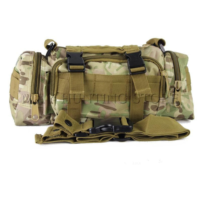 Multicam Camo Acu Military Tactical Waist Shoulder Pack Molle Assault Bags-Bags-Bargain Bait Box-ACU-Bargain Bait Box