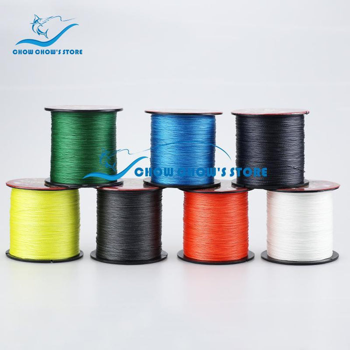 Multifilament Pe Braided Line 4 Weaves Fishing Line 300M 8-60Lb Fishing-Tackle-CC Fishing Tackle's Store-White-0.4-Bargain Bait Box
