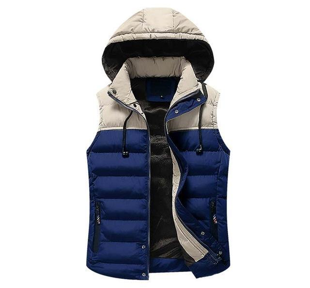 Mwxsd Men Hooded Vest Warm Thick Sleeveless Cotton Waist Male Gilet Homme Men-Vests-Bargain Bait Box-05-M-Bargain Bait Box
