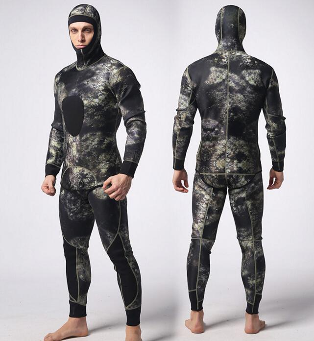 Mylegend 2Pcs/Set Camo Wetsuit For Spearfishing 3Mm Neoprene Scuba Diving-Spearfishing-Bargain Bait Box-Multi-S-Bargain Bait Box