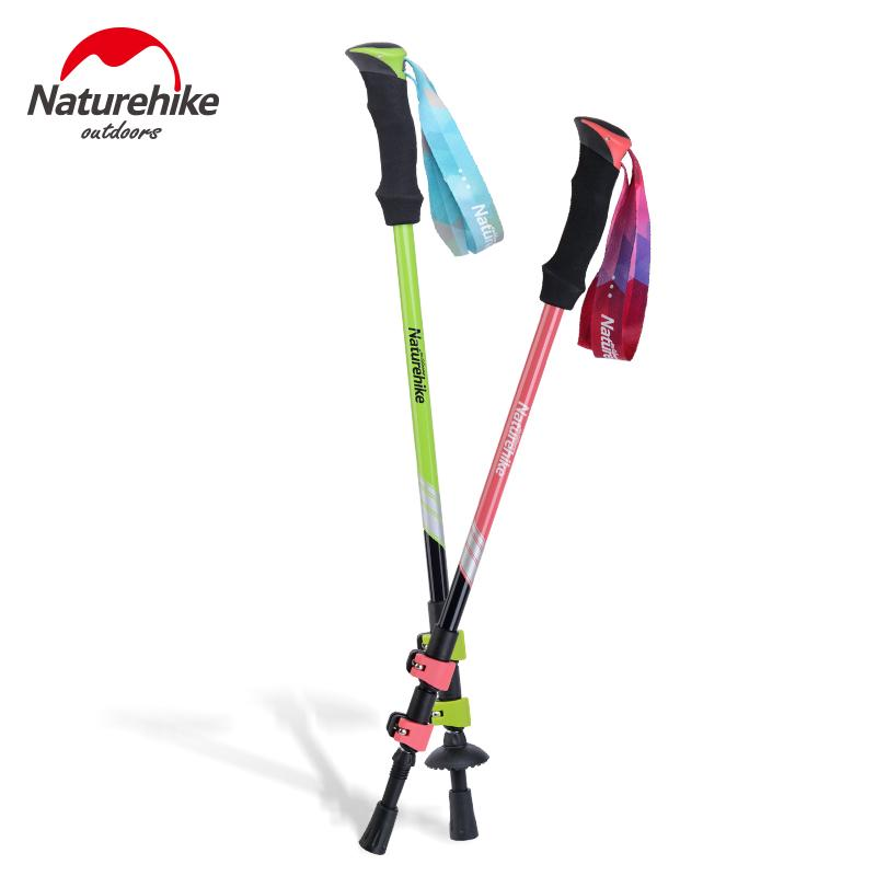 Naturehike 1 Pcs Ultra-Light External Lock Eva Handle 3-Section Adjustable Canes-Naturehike Official Store-Red-Bargain Bait Box